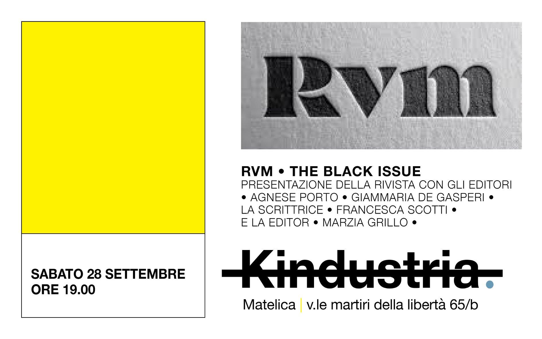 28_09 Francesca Scotti a RVM _The black issue da Kindustria
