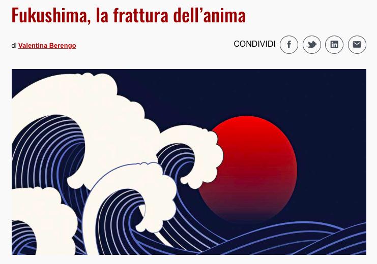 Intervista a Francesca Scotti: Fukushima, la frattura dell'anima