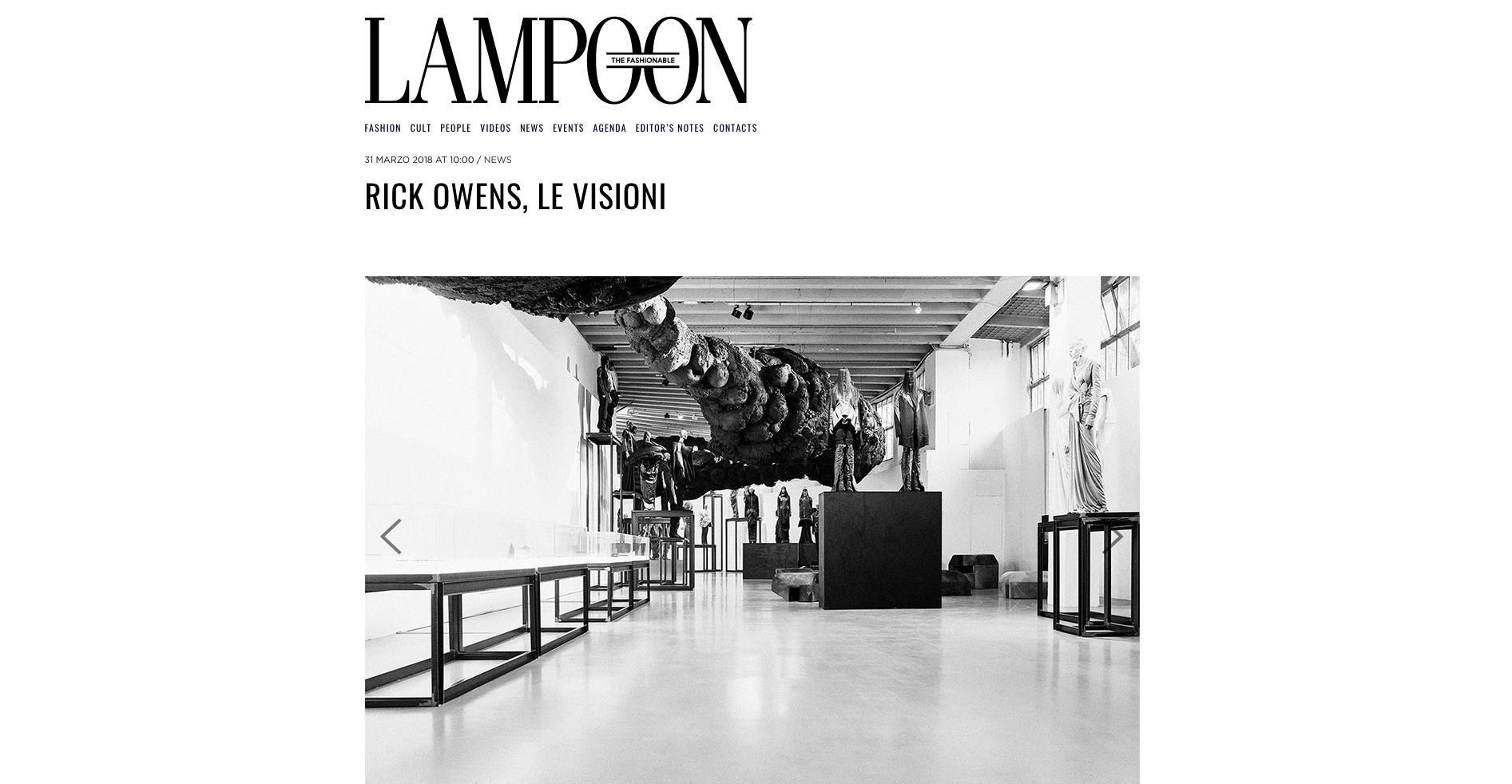Rick Owens su Lampoon