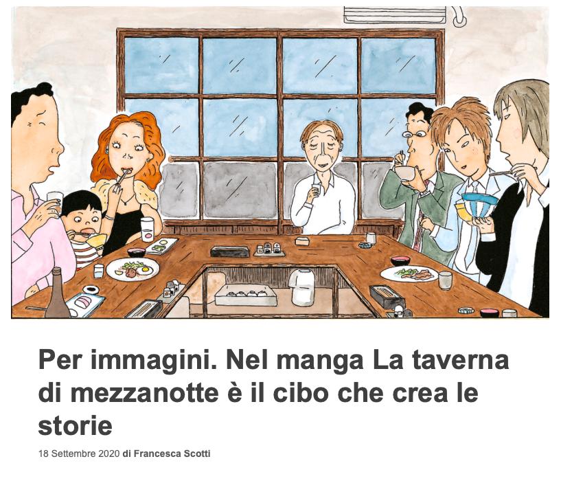 Nel manga La taverna di mezzanotte è il cibo che crea le storie_di Francesca Scotti